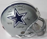 Tony Dorsett Signed Dallas Cowboys Authentic On-Field Full-Size Helmet with (5) Inscriptions (Beckett COA)