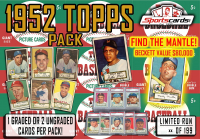 """1952 TOPPS BASEBALL PACK"" -1 or 2 CARDS PER PACK MANTLE / MAYS!"