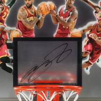 "LeBron James Signed Cleveland Cavaliers ""Deja Vu"" 18.5x30.5 Limited Edition Backboard (UDA COA) at PristineAuction.com"