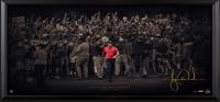 "Tiger Woods Signed ""Moving Forward"" 18x36 Limited Edition Framed Photo Display (UDA COA)"