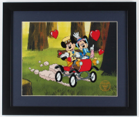 "Walt Disney's ""Mickey & Minnie Mouse"" 16x19 Custom Framed Animation Serigraph Display"