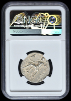 312-281 BC Seleucid Kingdom Seleucus I AR (Silver) Tetradrachm (17.09g) Types of Alexander III obv Heracles rv Zeus (NGC Ch VF) Strike: 3/5, Surface: 3/5 at PristineAuction.com
