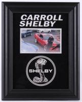 Carroll Shelby Signed 16x20 Custom Framed Photo Display (JSA COA)