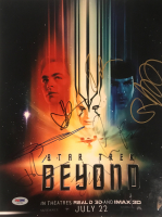 """""""Star Trek Beyond"""" 11x14 Photo Signed by (7) with J. J. Abrams, Sofia Boutella, Zachary Quinto, Simon Pegg (PSA Hologram) at PristineAuction.com"""