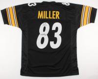 "Heath Miller Signed Steelers Jersey Inscribed ""2x SB Champ"" (TSE COA)"