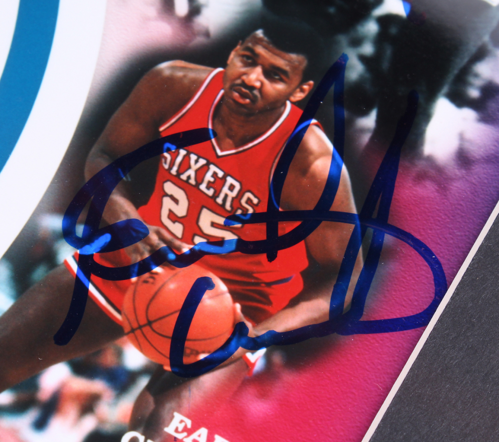 98918c760d03 1983 NBA Champion 76ers Signed 17x23.5 Custom Framed Photo Display  Team-Signed by