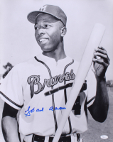 Hank Aaron Signed Braves 16x20 Rookie Photo (JSA COA) at PristineAuction.com