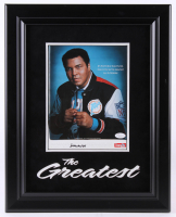 Muhammad Ali Signed 15.5x19.5 Custom Framed Photo Display (JSA Hologram)