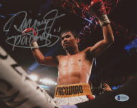 "Manny Pacquiao Signed 8x10 Photo Inscribed ""Pacman"" (Beckett COA)"