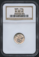 1928 10¢ Mercury Silver Dime (NGC MS 65 FB)