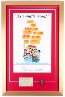 "Disneyland Fantasyland ""It's A Small World"" 17x26 Custom Framed Print Display with Vintage Ticket & Coin"