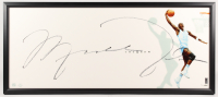 "Michael Jordan Signed North Carolina Tar Heels ""The Show"" 20x46.5 Limited Edition Custom Framed Display (UDA COA)"