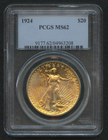 1924 St. Gaudens $20 Gold Twenty Dollar (PCGS MS62) at PristineAuction.com