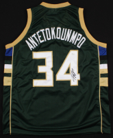 "Giannis Antetokounmpo Signed Bucks ""Greek Freak"" Jersey (JSA Hologram)"