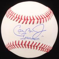 """Cal Ripken Jr. Signed OML Baseball Inscribed """"Ironman"""" (MLB Hologram) at PristineAuction.com"""
