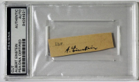 Albert Einstein Signed Cut (PSA Encapsulated)