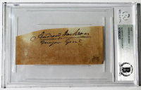 Andrew Jackson Signed Cut (Beckett Encapsulated)