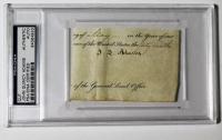 John Quincy Adams Signed Cut (PSA Encapsulated)