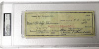 Vince Lombardi Signed Personal Bank Check (PSA Encapsulated)