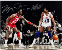 "Michael Jordan & Magic Johnson Signed ""1987 All-Star"" 16x24 Limited Edition Photo (UDA COA)"