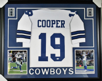 Amari Cooper Signed Dallas Cowboys 35x43 Custom Framed Jersey (JSA COA)