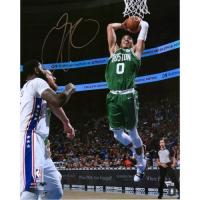 "Jayson Tatum Signed Celtics ""Dunking"" 16x20 Photo (Fanatics Hologram) at PristineAuction.com"
