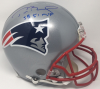 "Tom Brady Signed Patriots Full-Size Authentic On-Field Helmet Inscribed ""SB 51 MVP"" (Steiner COA & Tristar Hologram) at PristineAuction.com"