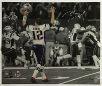 "Tom Brady Signed New England Patriots ""Super Bowl 51 Touchdown Celebration"" 20x24 Limited Edition Photo (Steiner COA) at PristineAuction.com"