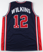 Dominique Wilkins Signed Team USA Jersey (JSA COA)