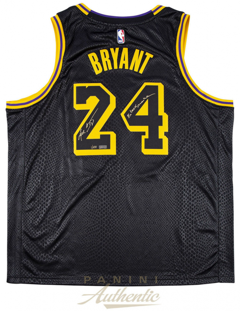 a0b6c22b590 Kobe Bryant Signed LE Nike Black Mamba Lakers City Jersey (Panini COA) at  PristineAuction