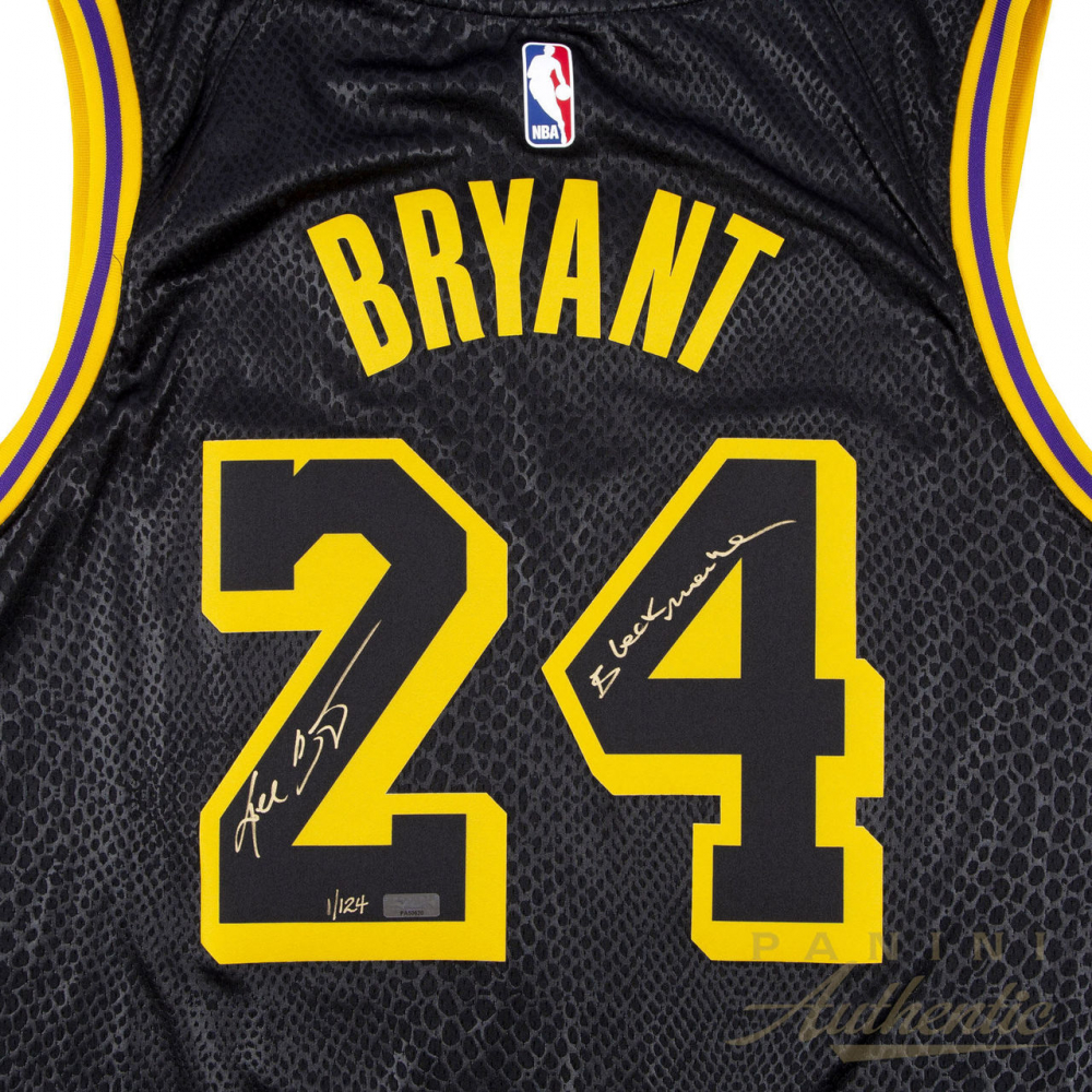 f6726f91a0a Kobe Bryant Signed LE Nike Black Mamba Lakers City Jersey (Panini COA) at  PristineAuction