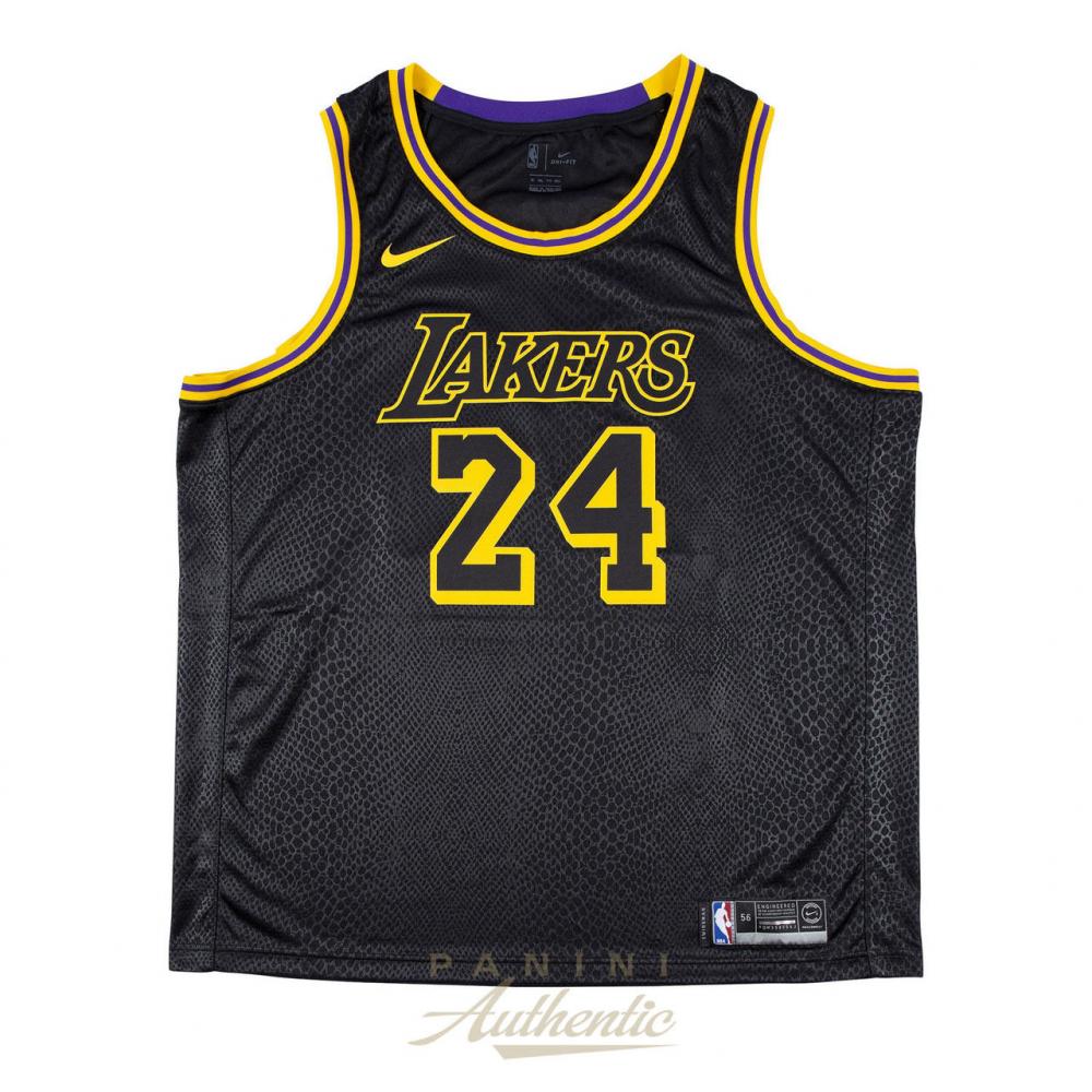Kobe Bryant Signed LE Nike Black Mamba Lakers City Jersey (Panini ...