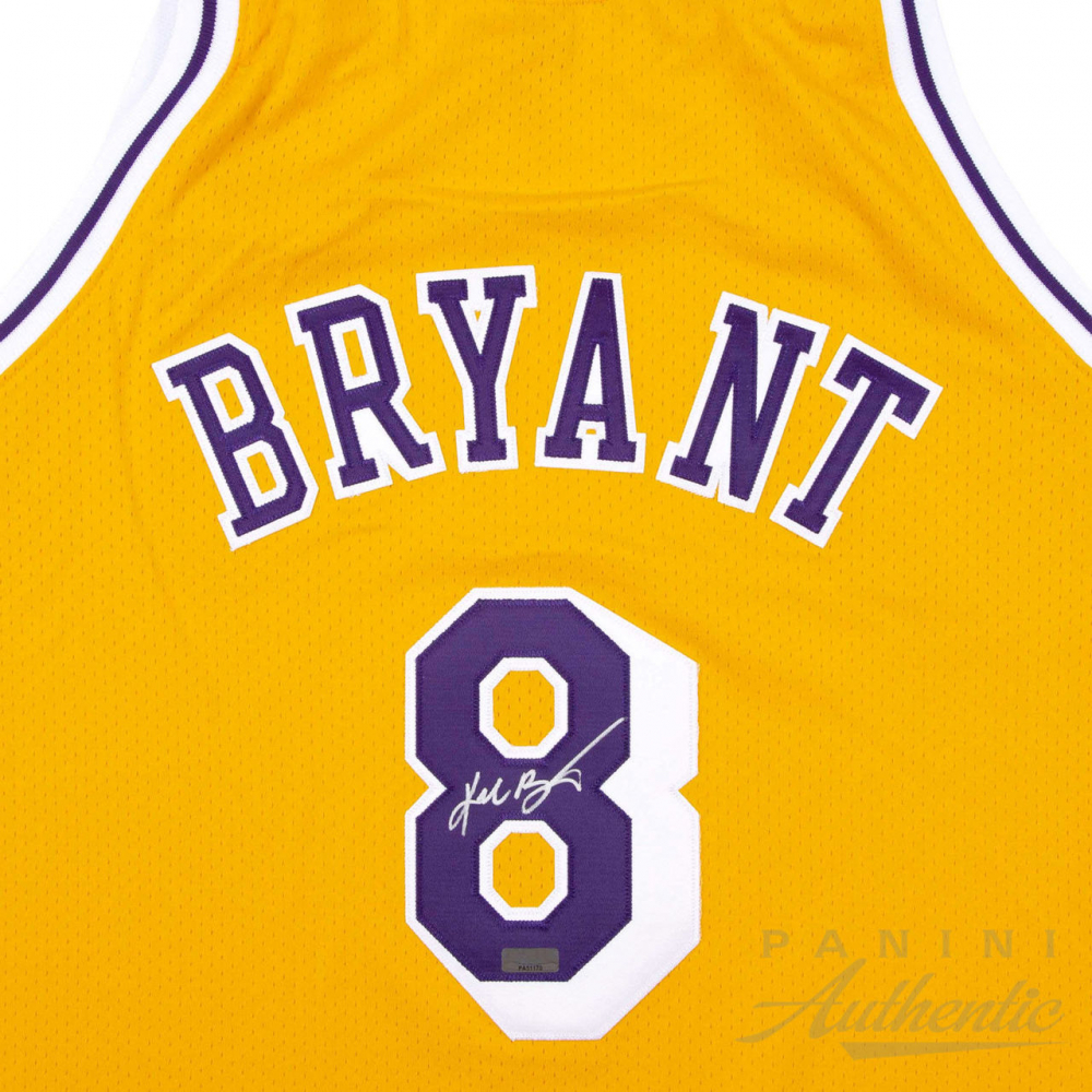 2f3ac6ea6a7 Kobe Bryant Signed Lakers 1996-97 Gold Rookie Jersey (Panini COA) at  PristineAuction