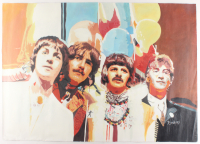 """Rodney Weng Signed Beatles """"Sgt. Pepper's Lonely Hearts Club Band"""" 25x35.5 Original Oil on Canvas (PA LOA)"""