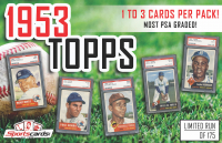 """1953 Topps Baseball Pack"" 1 to 3 CARDS PER PACK! - Mystery Box - MOST PSA GRADED! at PristineAuction.com"