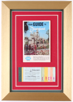 Disneyland 10x14 Custom Framed Guide Book and Coupon Booklet