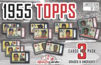 """""""1955 Topps Baseball SUPER PACK"""" (3) Cards Per Pack! PSA & SGC Graded!"""