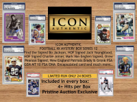 ICON AUTHENTIC FOOTBALL 4X MYSTERY BOX SERIES 12 4+ Hits per Box