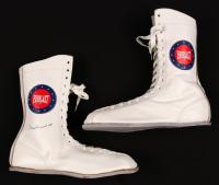 Muhammad Ali Signed Everlast Boxing Shoe (JSA LOA)