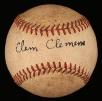 Clem Clemens Signed Baseball (JSA COA)