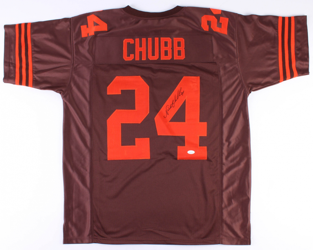 3b0ea2d65fd Nick Chubb Signed Browns Jersey (JSA COA) at PristineAuction.com