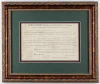 James Madison Signed 18x21.25 Custom Framed Document Display (JSA ALOA)