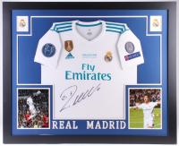 Cristiano Ronaldo Signed Real Madrid 35x43 Custom Framed Jersey (Beckett COA)
