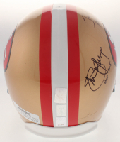 Joe Montana, Jerry Rice & Steve Young Signed 49ers Full-Size Helmet with HOF Inscriptions (Montana, Rice & Young Hologram) at PristineAuction.com