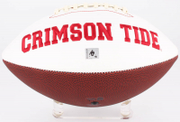 Bo Scarbrough Signed Alabama Crimson Tide Logo Football (Scarbrough Hologram) at PristineAuction.com