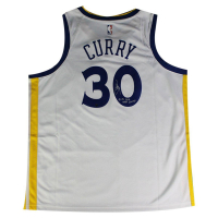 "Stephen Curry Signed Warriors Jersey Inscribed ""17-18 B2B Champs"" (Steiner COA)"