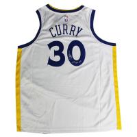 "Stephen Curry Signed Warriors Jersey Inscribed ""15-16 B2B MVP"" (Steiner COA)"
