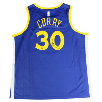 "Stephen Curry Signed Warriors Jersey Isncribed ""15-16 B2B MVP"" (Steiner COA)"