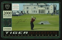 Tiger Woods 2000 129th Open Champion 19 Under Collector Series Golf Balls and Tin at PristineAuction.com