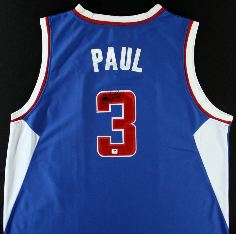 chris paul signed jersey